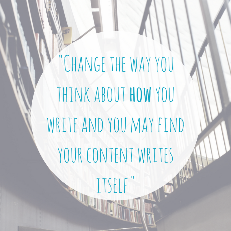 Change how you write content
