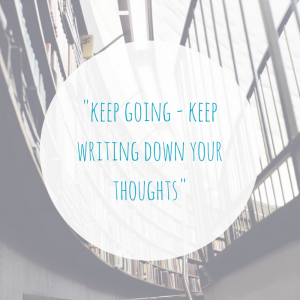 Keep writing blog quote