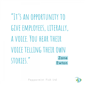 Give employees a voice quote from Zane Ewton
